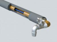 Саморегулирующийся греющий кабель для ввода внутрь питьевой!!! водопроводной трубы 17 HTM-2CT